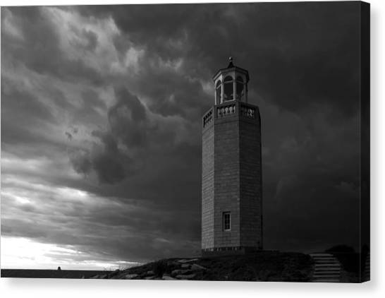 University Of Connecticut Canvas Print - The Storm Approaches by David Freuthal