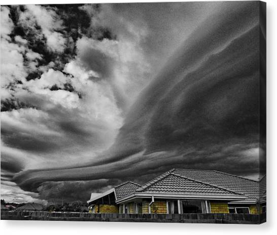 Hailstorms Canvas Print - The Storm Front by Steve Taylor