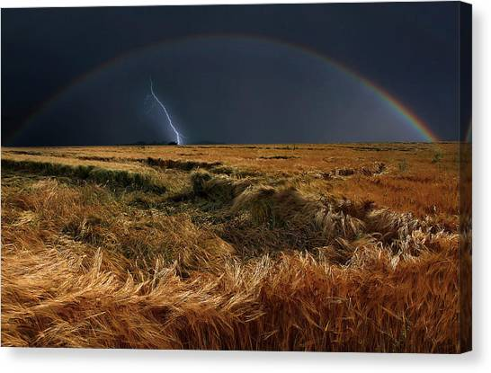 Rainbow Canvas Print - The Storm Is Over by Nicolas Schumacher