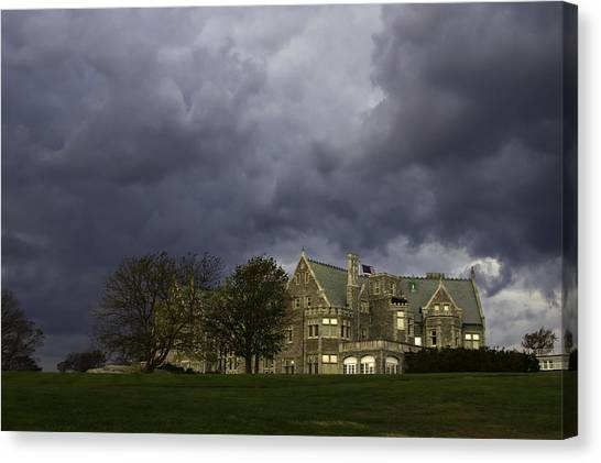 University Of Connecticut Canvas Print - The Storm Threatens by David Freuthal