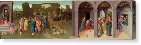Old Testament Canvas Print - The Story Of Joseph, I by Bartolomeo di Giovanni