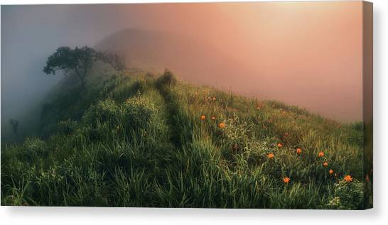 Russia Canvas Print - The Story Of The Foggy Morning by Krovlin Andrey