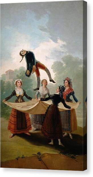 The Prado Canvas Print - The Straw Manikin by Francisco Goya