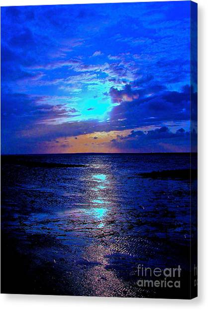 The Stream Of Night Canvas Print by Q's House of Art ArtandFinePhotography