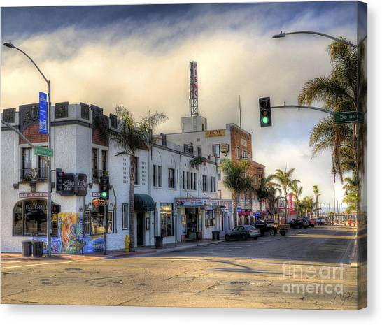 The Streets Of Pismo Beach Canvas Print