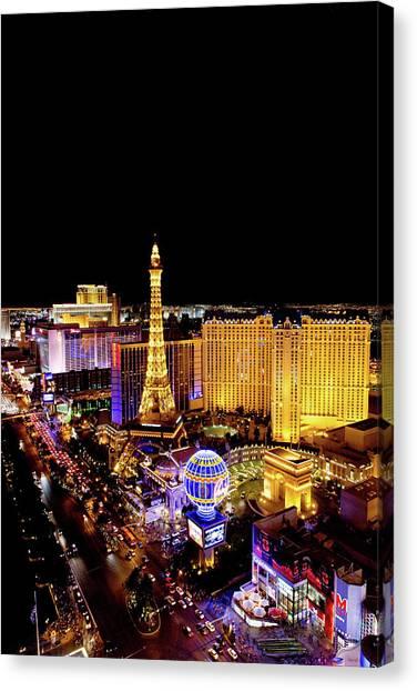 The Strip At Night, Las Vegas, Nevada Canvas Print
