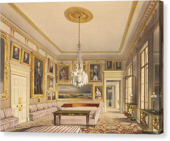 Hyde Park Canvas Print - The Striped Drawing Room, Apsley House by Thomas Shotter Boys