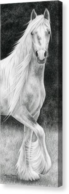 Draft Horses Canvas Print - The Stuff Of Fairy Tales by Katherine Plumer