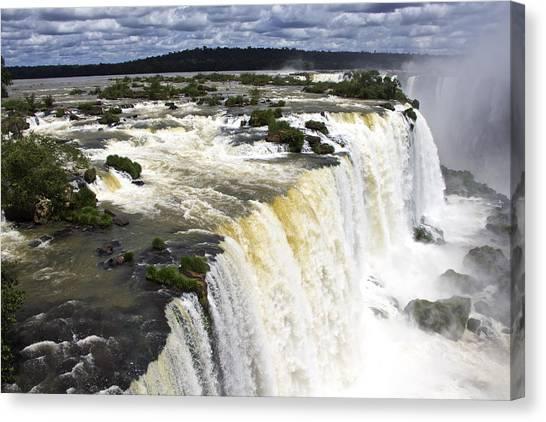 The Stunning Falls Of Iguacu Brazil Side Canvas Print