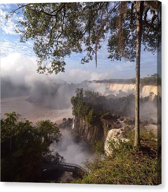 Argentinian Canvas Print - The #stunning #iguazufalls From The by Martin Rix