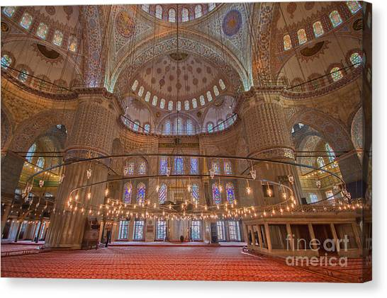 The Sultanahmet Mosque Istanbul Canvas Print
