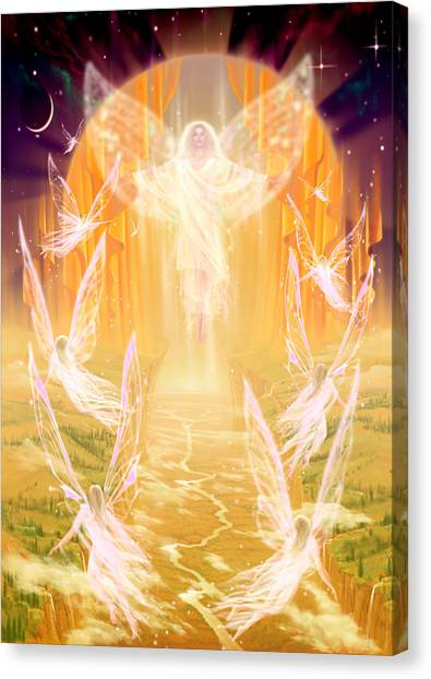 Floating Girl Canvas Print - The Summoning by Garry Walton