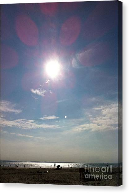 The Sun And The Moon - Witterings Sussex England Canvas Print