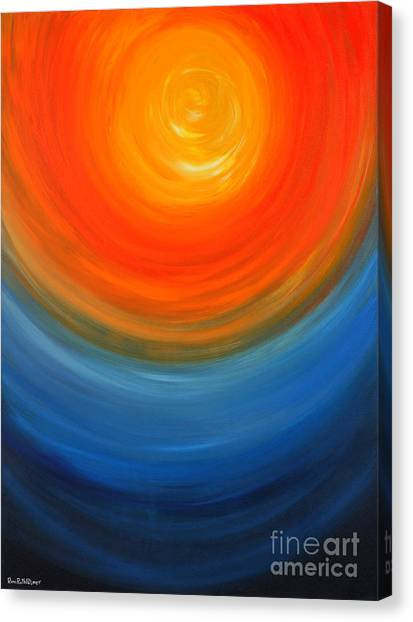 The Sun And The Sea Canvas Print by Roni Ruth Palmer