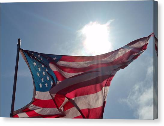 The Sun Of America 2 Canvas Print by Sheldon Blackwell