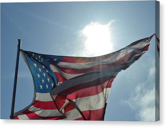 The Sun Of America Canvas Print by Sheldon Blackwell