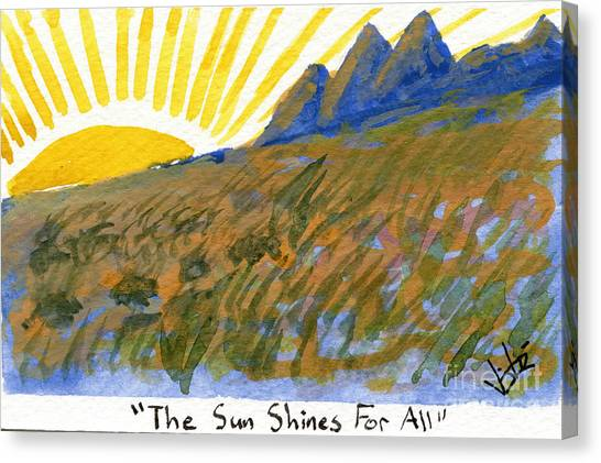 The Sun Shines For All Canvas Print