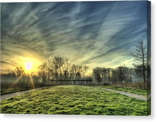 The Sun Shines Through Canvas Print