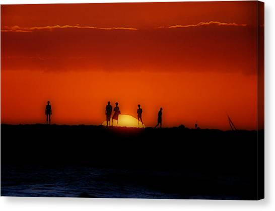 The Sun Worshipers Canvas Print