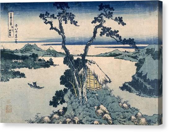 Mount Fuji Canvas Print - The Suna Lake by Katsushika Hokusai
