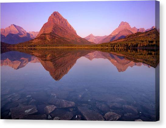 Canvas Print - The Sunrise On Mount Grinnell As Seen by Ben Horton