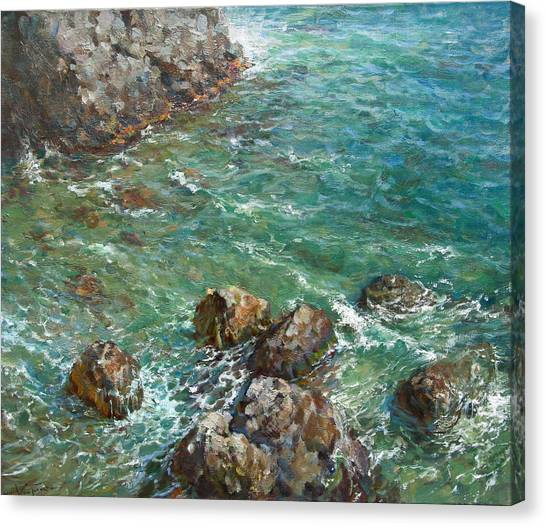 The Surf Canvas Print by Korobkin Anatoly
