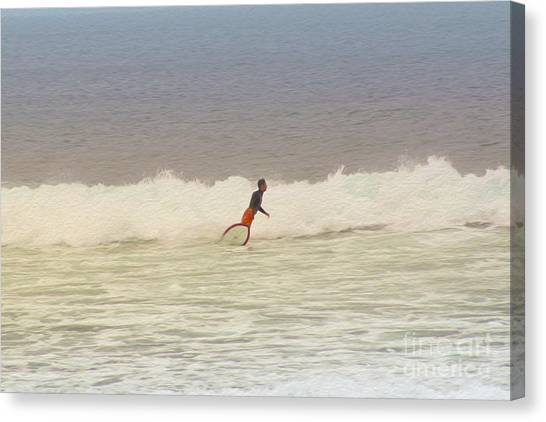 The Surfer Canvas Print by Nur Roy