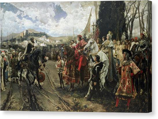 Muslim Canvas Print - The Surrender Of Granada by Francisco Pradilla y Ortiz