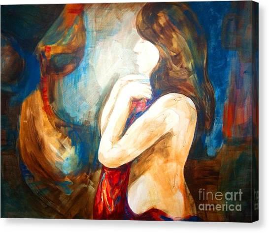 The Swan Lady Canvas Print by Bianca Romani