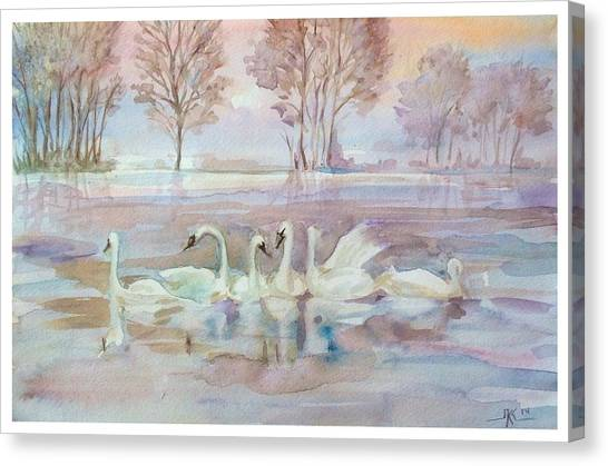 The Swan Lake Canvas Print