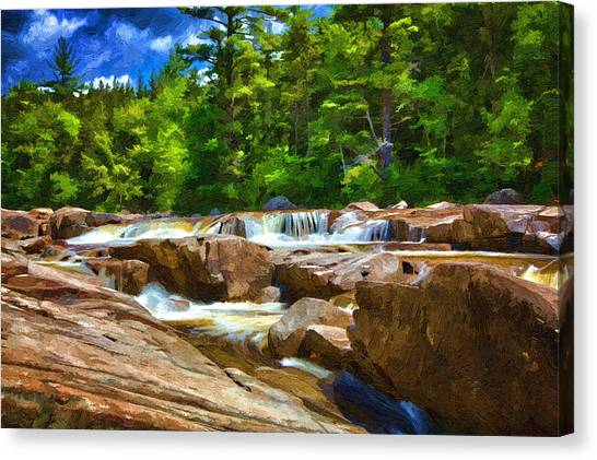 The Swift River Beside The Kancamagus Scenic Byway In New Hampshire Canvas Print
