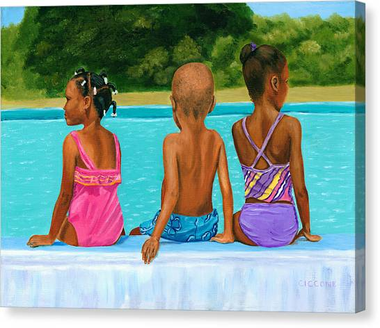 The Swim Lesson Canvas Print