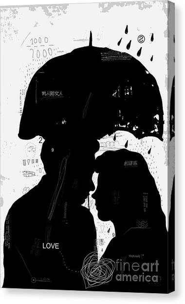 Couples Canvas Print - The Symbolic Image Of A Man And A Woman by Dmitriip