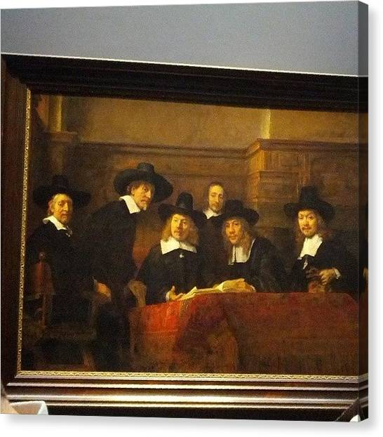 Rembrandt Canvas Print - The Syndics #amsterdam #lifeinamsterdam by Sebastian Comsa