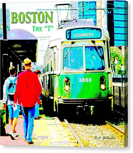 The T Trolley Boston Massachusetts Canvas Print