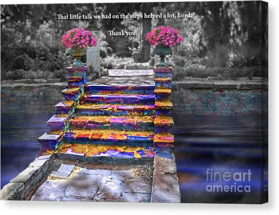 The Talk Version One Canvas Print