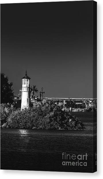 Cruise Ships Canvas Print - The Tampa Lighthouse by Marvin Spates