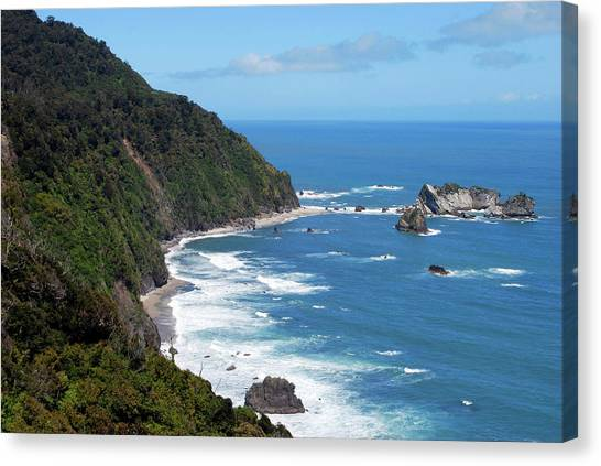 Beach Cliffs Canvas Print - The Tasman Sea, Karamea, New Zealand by Lynn Seldon