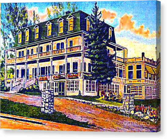 The Tavern Inn In Wilmington N Y In 1910 Canvas Print by Dwight Goss