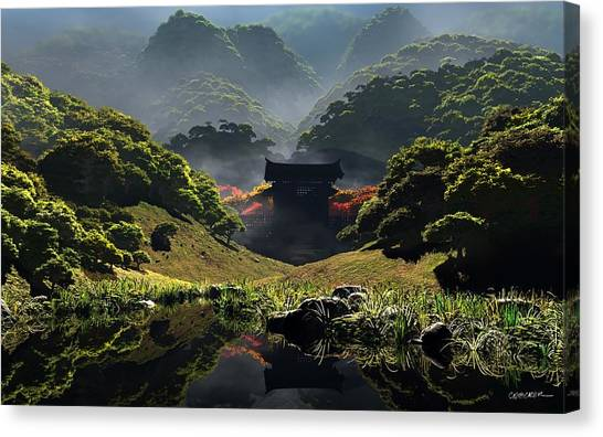 The Temple Of Perpetual Autumn Canvas Print