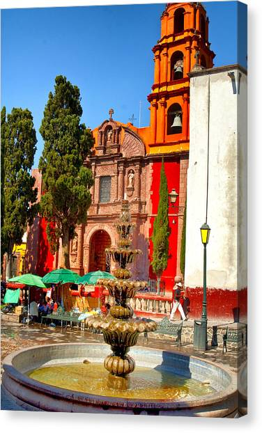 The Templo De San Francisco Canvas Print