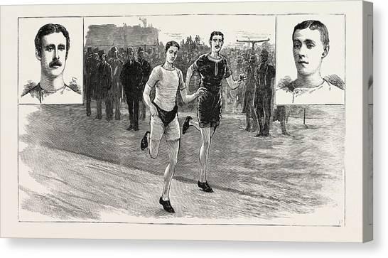Stamford Bridge Canvas Print - The Ten-mile Race At Lillie Bridge Between W by English School