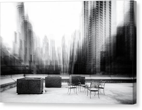 Chair Canvas Print - The Terrace by Roswitha Schleicher-schwarz