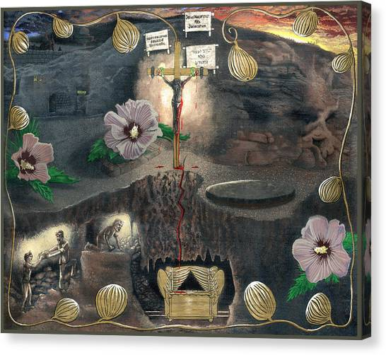 Jewish Painter Canvas Print - The Testimony Of Ron Wyatt - Ark Of The Covenant by EBENLO Artist