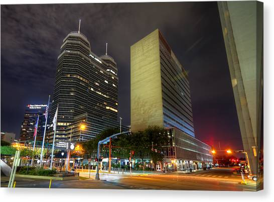 The Texas Medical Center At Night Canvas Print