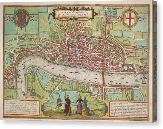Tower Of London Canvas Print - The Thames by British Library