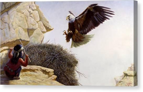North Dakota Canvas Print - The Thief by Gregory Perillo
