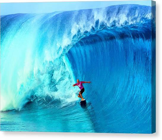 Mauna Loa Canvas Print - The Thin Blue Line by Dominic Piperata