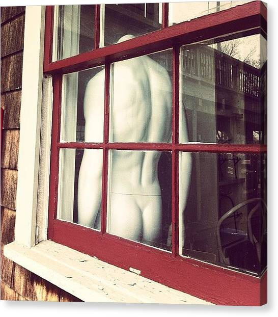 Male Nudes Canvas Print - The Things People Leave In Windows :) by H Mackenzie