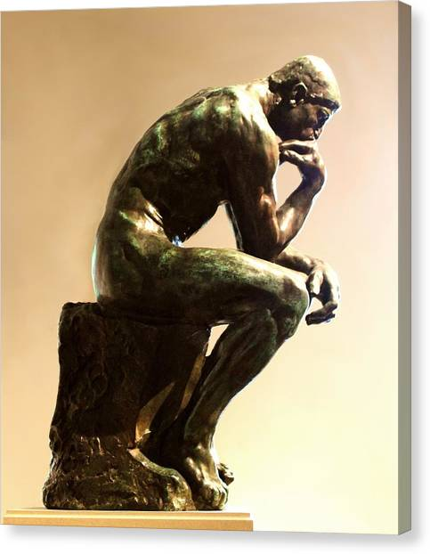 Smithsonian Institute Canvas Print - The Thinker by Natalie Ortiz